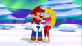 mario and peach winter date    - mario-and-peach photo