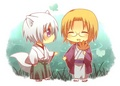 mikage and tomoe - chibi fan art