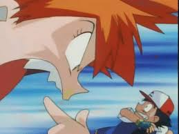 misty yells at ash