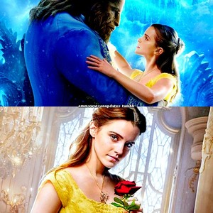 new scenes of Emma as Belle in BATB+French poster