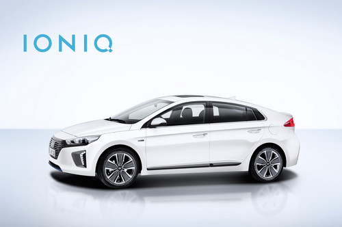 Hyundai Ioniq Hybrid wallpaper called Hyundai Ioniq Hybrid side 1