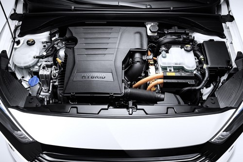 Hyundai Ioniq Hybrid wallpaper entitled IONIQ Hybrid Engine