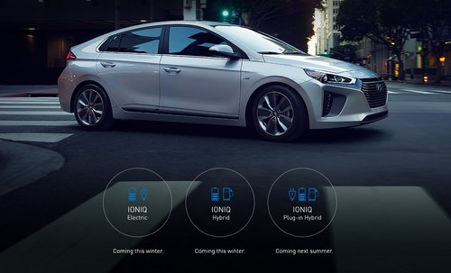 Hyundai Ioniq Plug-In Hybrid PHEV wallpaper titled Hyundai IONIQ Side View