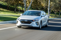 2017 Hyundai Ioniq EV front three quarter in motion