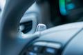 2017 Hyundai Ioniq EV interior detail