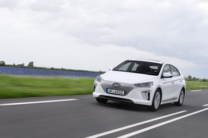 Hyundai IONIQ Electric on the road