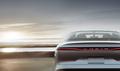 rear back Lucid Air luxury sport autonomous electric sedan
