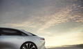 side rear Lucid Air luxury sport autonomous electric sedan