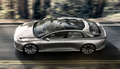 Glass roof Lucid Air luxury sport autonomous electric sedan