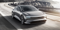 front three quarters Lucid Air luxury sport autonomous electric sedan