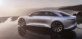 side rear three quarters Lucid Air luxury sport autonomous electric sedan