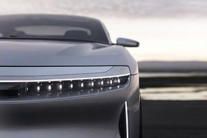 led projector array Lucid Air luxury sport autonomous electric sedan