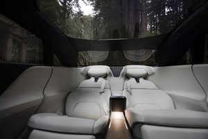 interior forest wine cooler Lucid Air luxury sport autonomous electric sedan