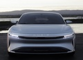 front Lucid Air luxury sport autonomous electric sedan