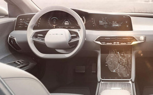 large display tablet and dashboard Lucid Air luxury sport autonomous electric sedan