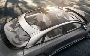 top glass roof Lucid Air luxury sport autonomous electric sedan