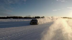 Snow Drifting cold weather testing Lucid Air luxury sport autonomous electric sedan