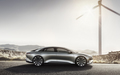 side profile wind turbine Lucid Air luxury sport autonomous electric sedan