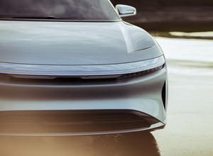 Lucid Air luxury sport autonomous electric sedan front grille