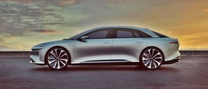 Lucid Air luxury sport autonomous electric sedan profile