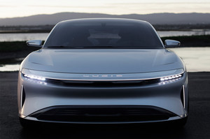 Lucid Motors Air front end headlight Lucid Air luxury sport autonomous electric sedan