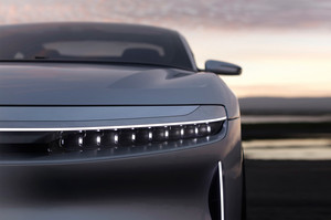 Lucid Motors Air front headlight details Lucid Air luxury sport autonomous electric sedan