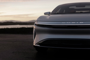 Lucid Motors Air front hood detail Lucid Air luxury sport autonomous electric sedan