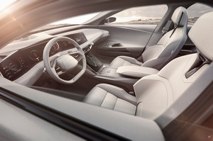 Lucid Motors Air front interior seats Lucid Air luxury sport autonomous electric sedan