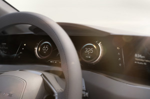 Lucid Motors Air instrument cluster and gauges Lucid Air luxury sport autonomous electric sedan