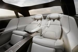 Lucid Motors Air rear interior seats glass roof Lucid Air luxury sport autonomous electric sedan