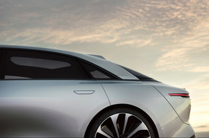Lucid Motors Air rear quarter panel Lucid Air luxury sport autonomous electric sedan