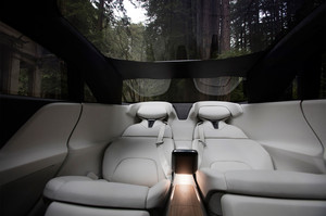 Lucid Motors Air rear seats glass roof forest