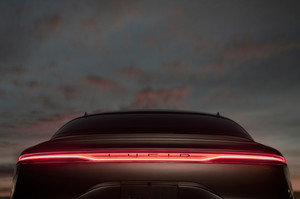 Lucid Motors Air rear taillights night Lucid Air luxury sport autonomous electric sedan