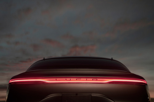 Lucid Air wallpaper called Lucid Motors Air rear taillights night Lucid Air luxury sport autonomous electric sedan