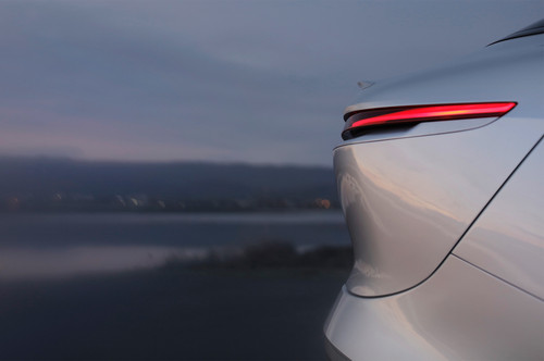 Lucid Air wallpaper titled Lucid Motors Air rear taillight illuminated Lucid Air luxury sport autonomous electric sedan