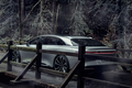 Lucid Motors Air rear three quarters Lucid Air luxury sport autonomous electric sedan