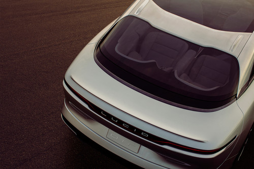 Lucid Air wallpaper called Lucid Motors Air rear windshield overhead trunk Lucid Air luxury sport autonomous electric sedan