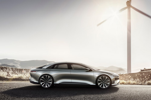 Lucid Air wallpaper called Lucid Motors Air side profile Lucid Air luxury sport autonomous electric sedan
