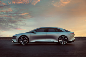 Lucid Motors Air side profile Lucid Air luxury sport autonomous electric sedan
