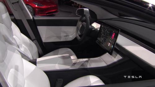 Tesla Model 3 wallpaper entitled Tesla Model 3 Interior