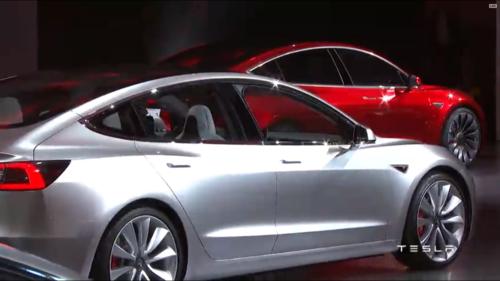 Tesla Model 3 wallpaper titled Tesla Model 3 Rear there quarter