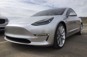 Tesla Gigafactory Model 3 front three quarter