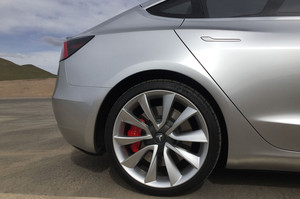 Tesla Gigafactory Model 3 rear