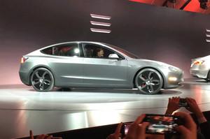 Tesla Model 3 on stage