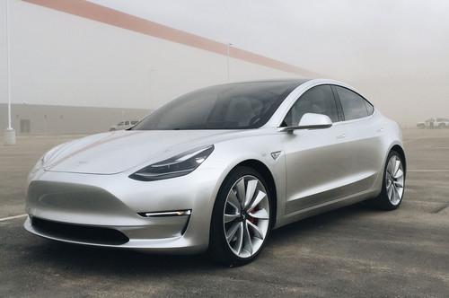 Tesla Model 3 wallpaper called Tesla Model 3 with Gigafactory
