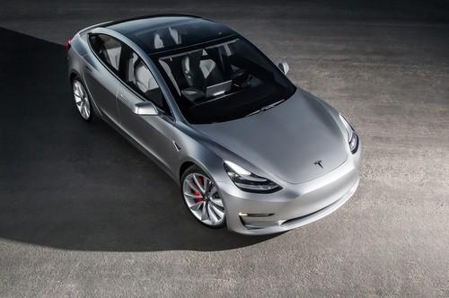 Tesla Model 3 wallpaper entitled 2017 Tesla Model 3 top view