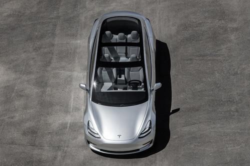 Tesla Model 3 wallpaper entitled 2017 Tesla Model 3 top view interior seats