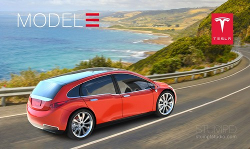 Tesla Model 3 wallpaper called Tesla Model 3 Render via Stumpf Studio