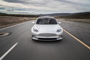 front 2018 Tesla Model 3 60D AWD electric sport luxury sedan