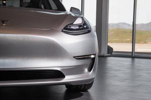 front bumper 2018 Tesla Model 3 60D AWD electric sport luxury sedan